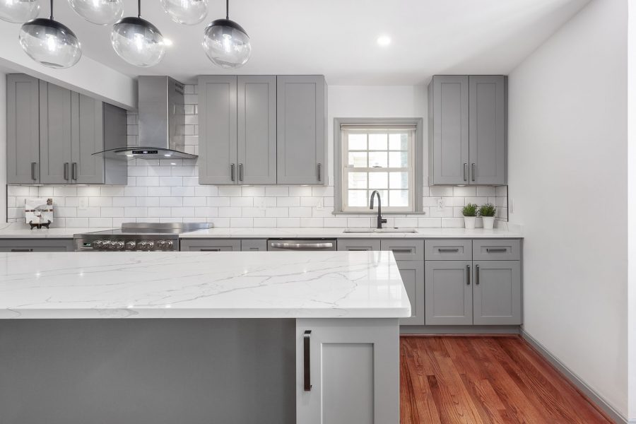 Grey Kitchen Cabinets from J&K Cabinetry