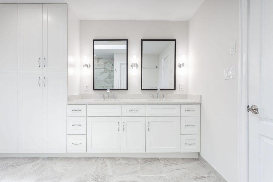 J&K Cabinetry – White Shaker Vanity Base
