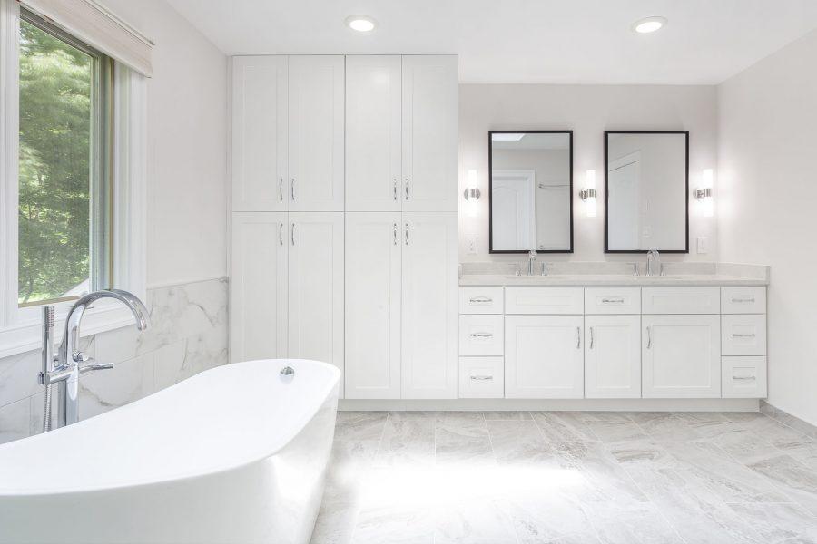 J&K Cabinetry – White Shaker Tall Linen Pantry