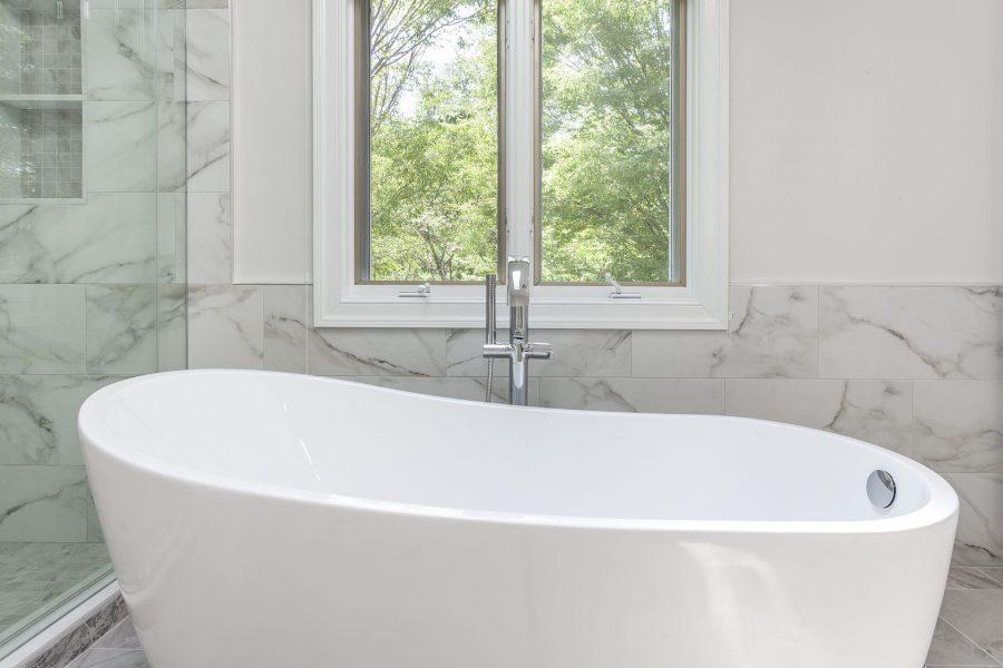 Modern Bathroom with a Freestanding Acrylic Tube