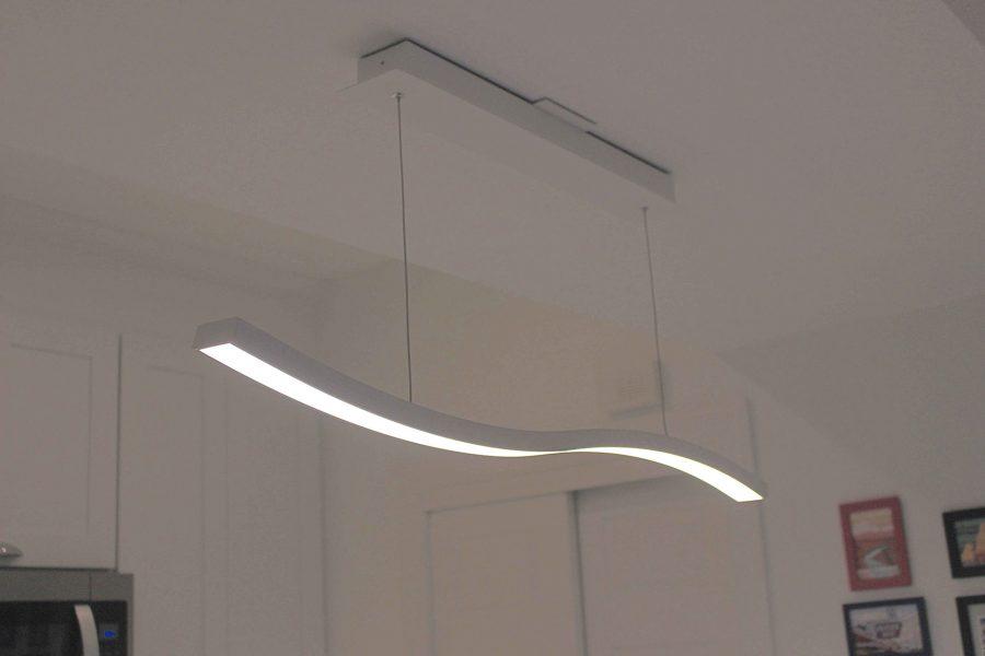 Modern Wavy Kitchen Pendant Light