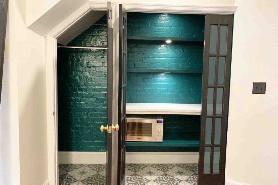 Under Stairs Pantry Space