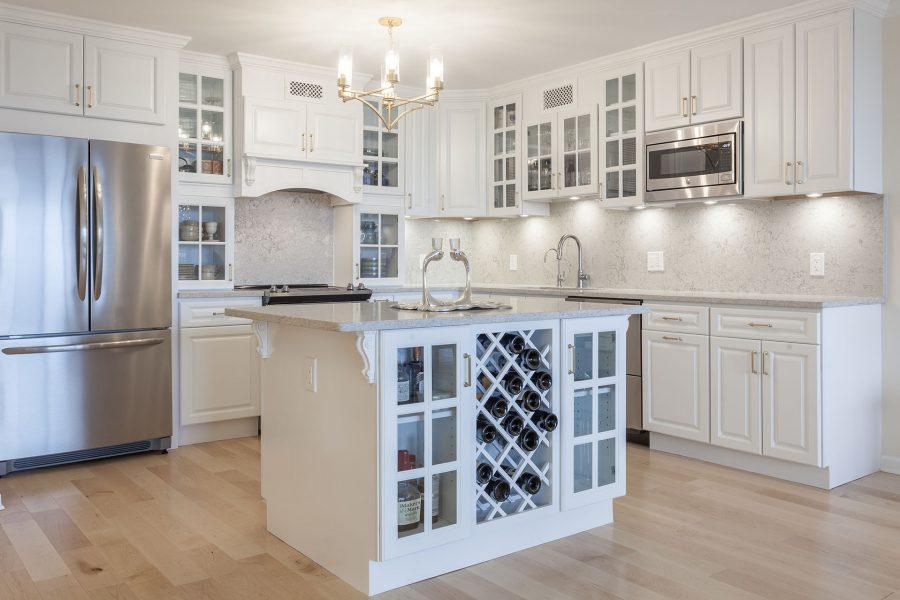 Kitchen Island With Wine Rack