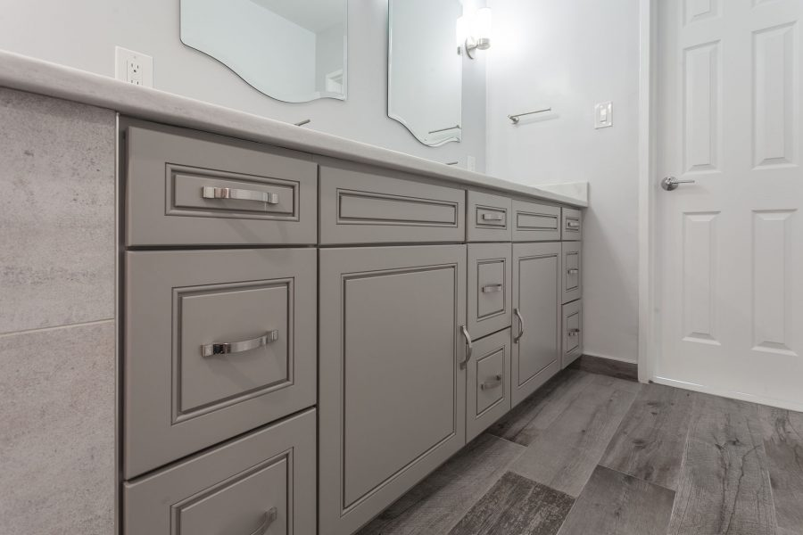 Double Sink Vanity by J&K Cabinetry