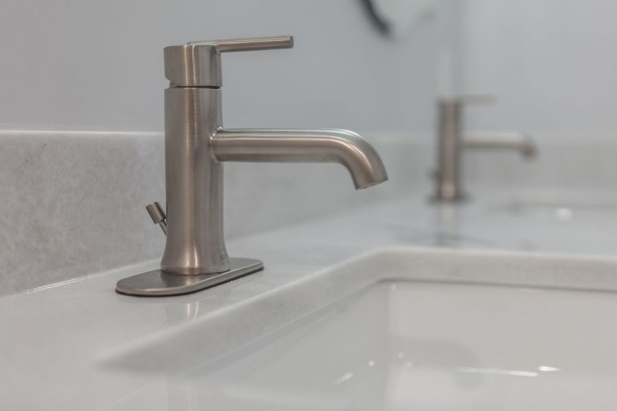 Brushed Nickel Finish Faucet by Delta
