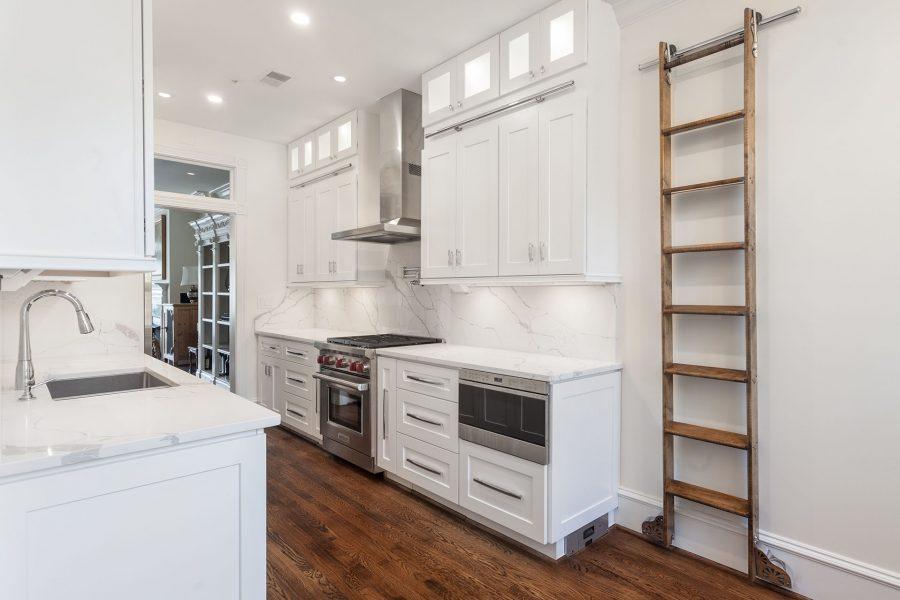 Full height backsplash, ladder and cabinet light inserts