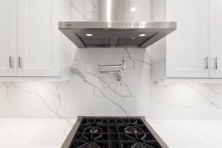 Quartz Kitchen Backsplash