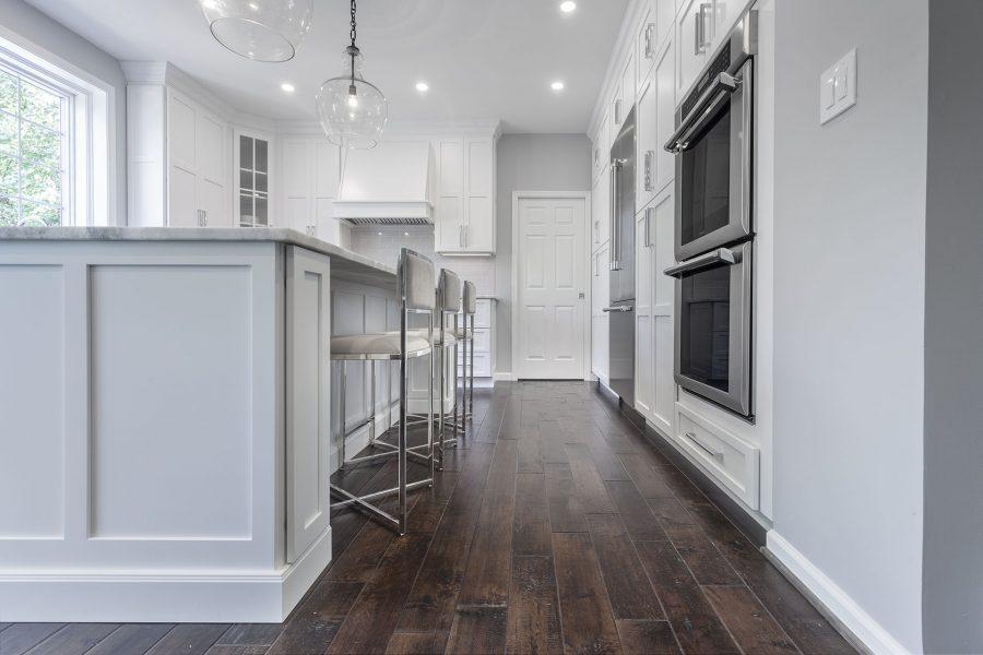 Dark Hardwood Kitchen Floor