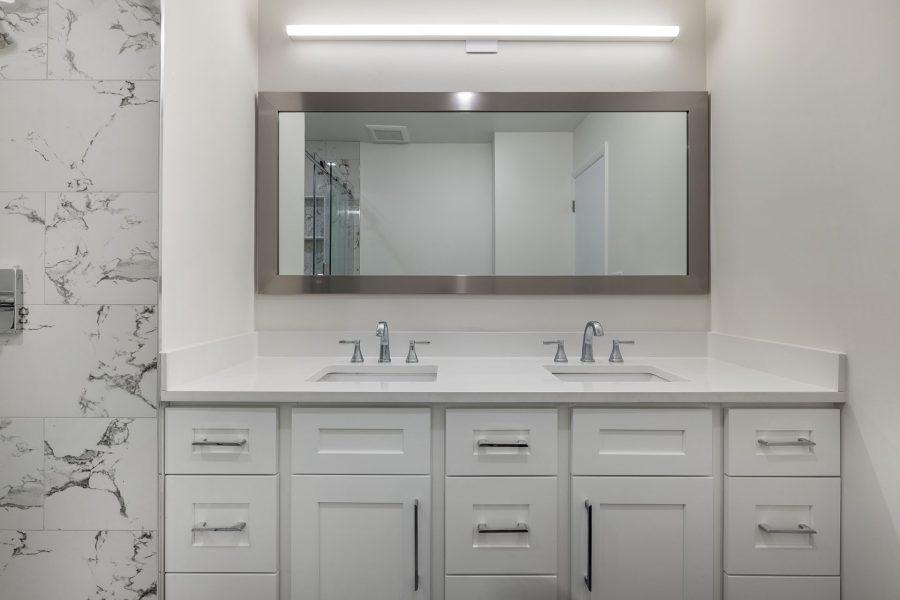 J&K White Shaker double vanity