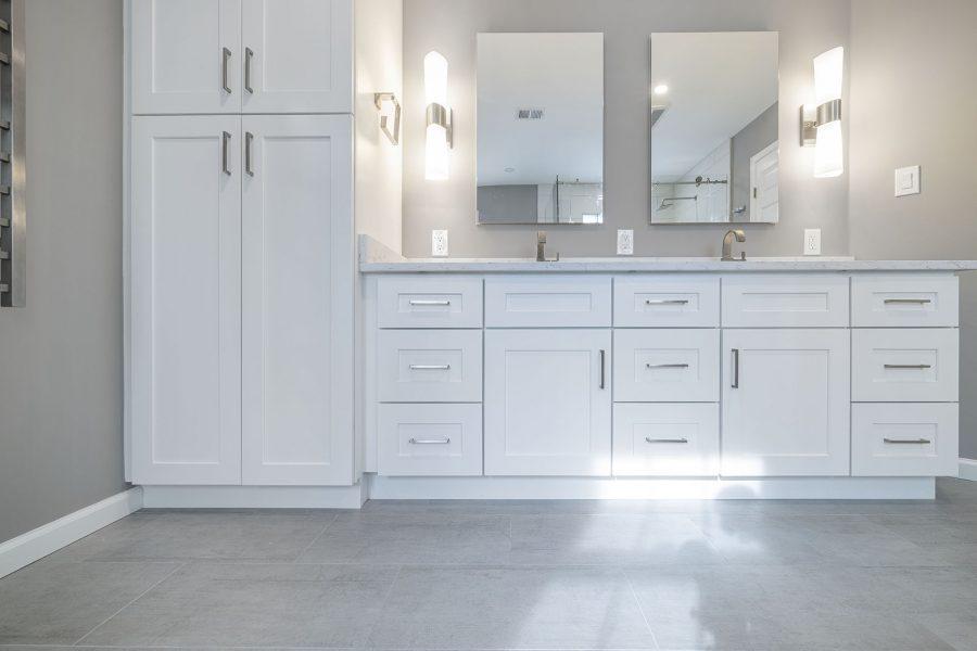 J&K Cabinetry White Shaker Vanity